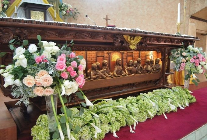 church decoration by Sweetbella Florist & Decoration - 005