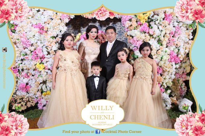 Photo Corner & Instagram Live Printing The wedding of Willy & Chenli by Cocktail Photo Corner - 001