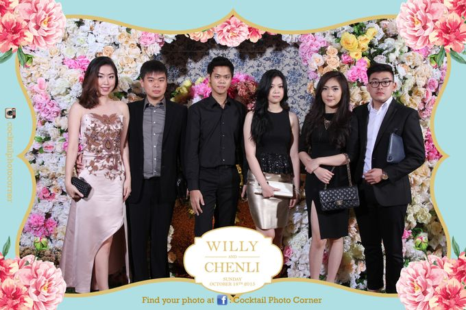 Photo Corner & Instagram Live Printing The wedding of Willy & Chenli by Cocktail Photo Corner - 005