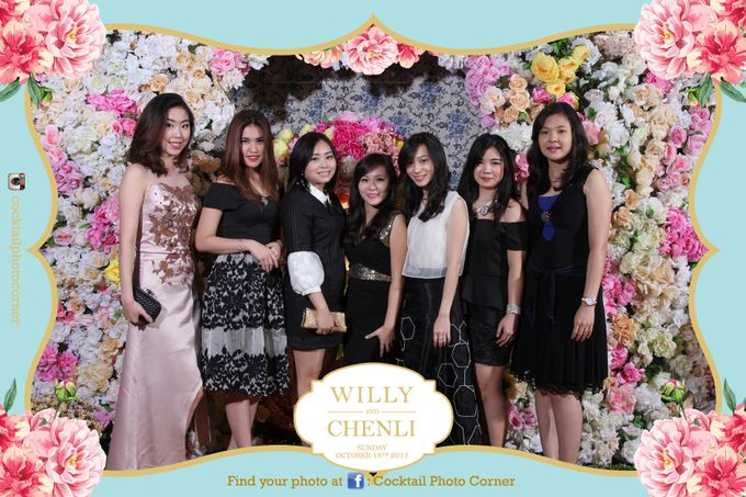 Photo Corner & Instagram Live Printing The wedding of Willy & Chenli by Cocktail Photo Corner - 006