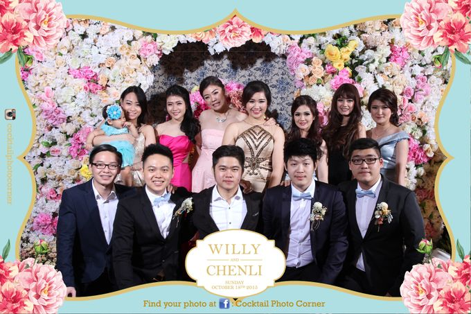 Photo Corner & Instagram Live Printing The wedding of Willy & Chenli by Cocktail Photo Corner - 007