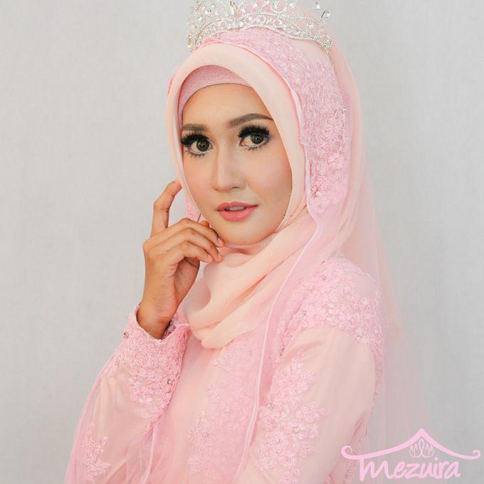 Modern Muslim Bridal Mezuira Makeup Hijab Style Bridestory