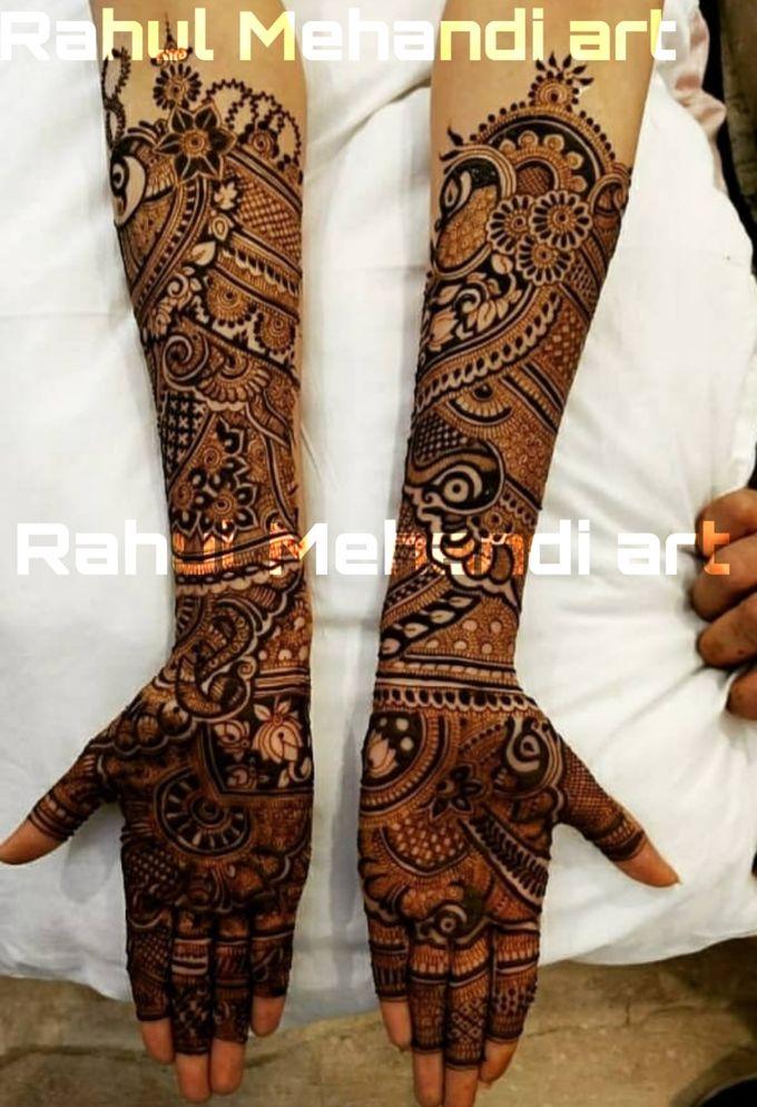 Designer Bridal Mehndi Designs by Rahul Mehandi Art Agra - 004
