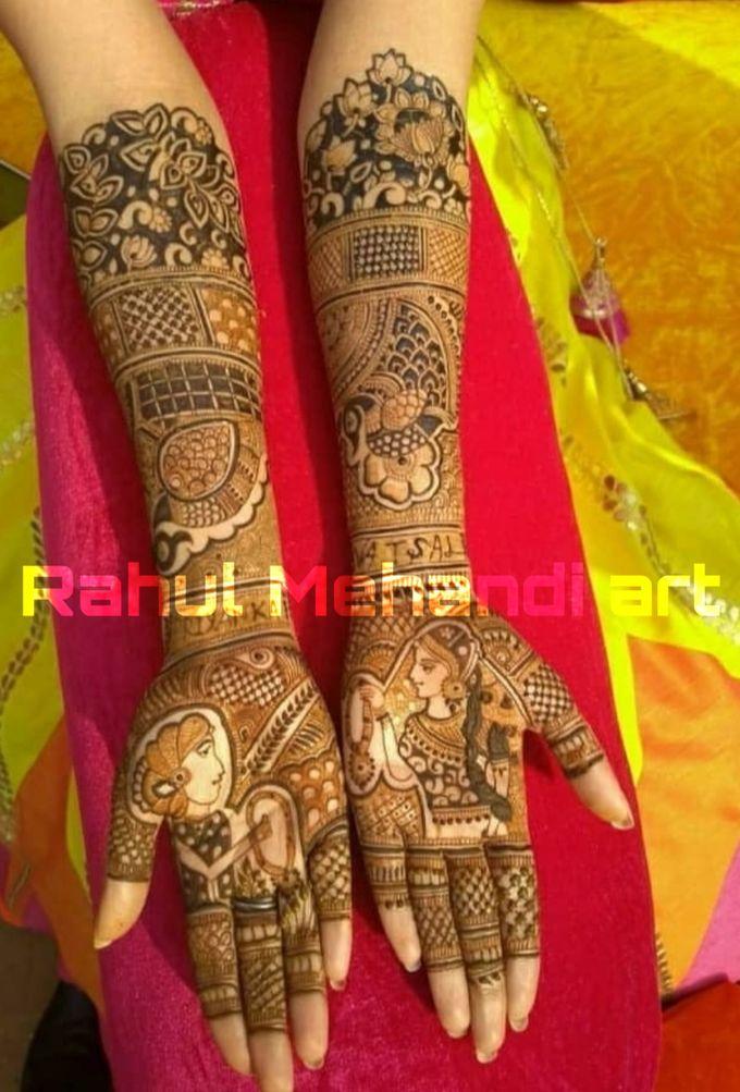 Designer Bridal Mehndi Designs by Rahul Mehandi Art Agra - 003