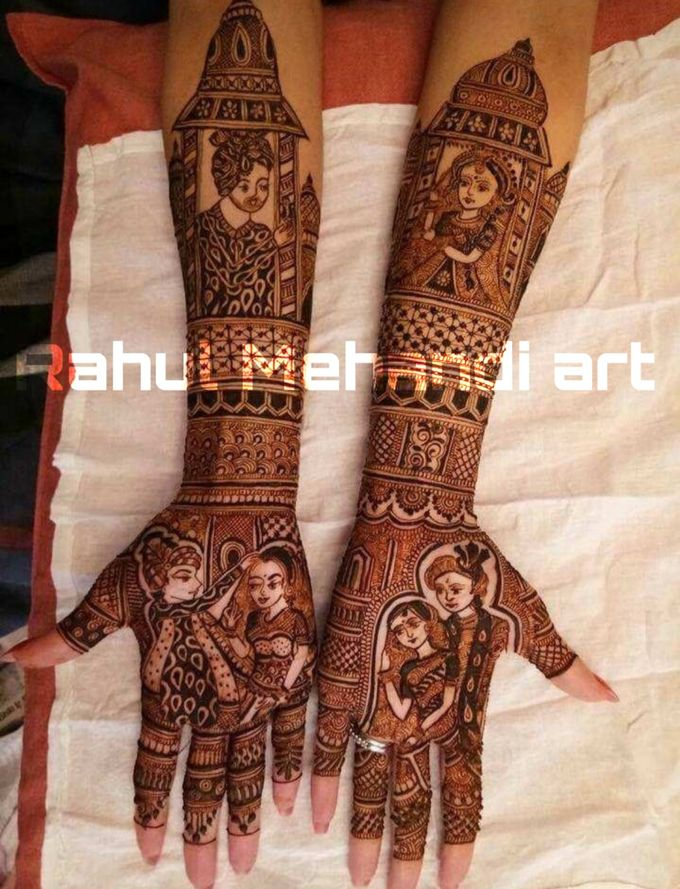 Designer Bridal Mehndi Designs by Rahul Mehandi Art Agra - 001