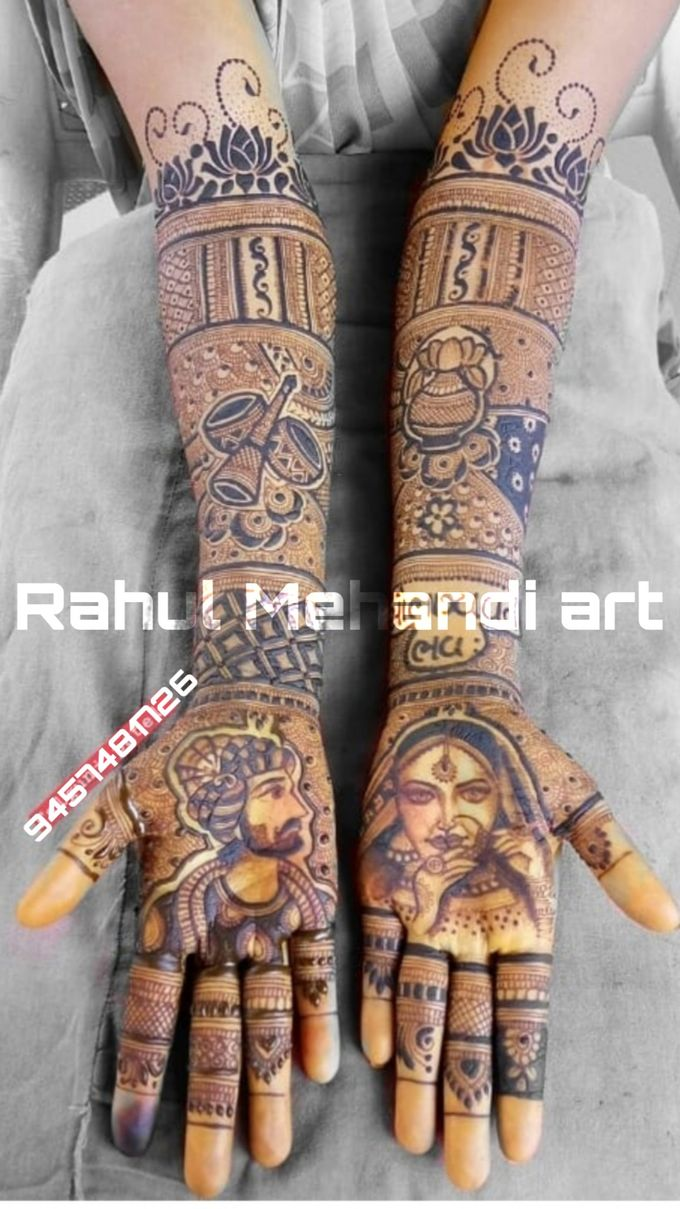 Designer Bridal Mehndi Designs by Rahul Mehandi Art Agra - 002