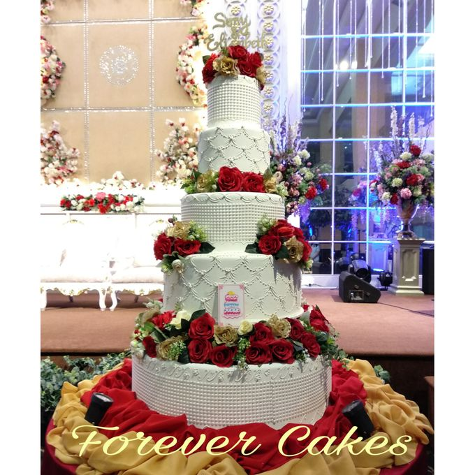 3-5 Tiers Wedding Cake With 70cm Round Base by FOREVER CAKE - 002