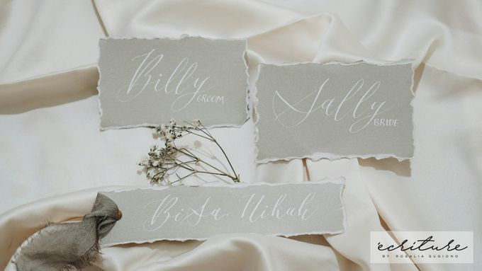 Vow Package By Calligraphy By Ecriture Id Bridestory Com