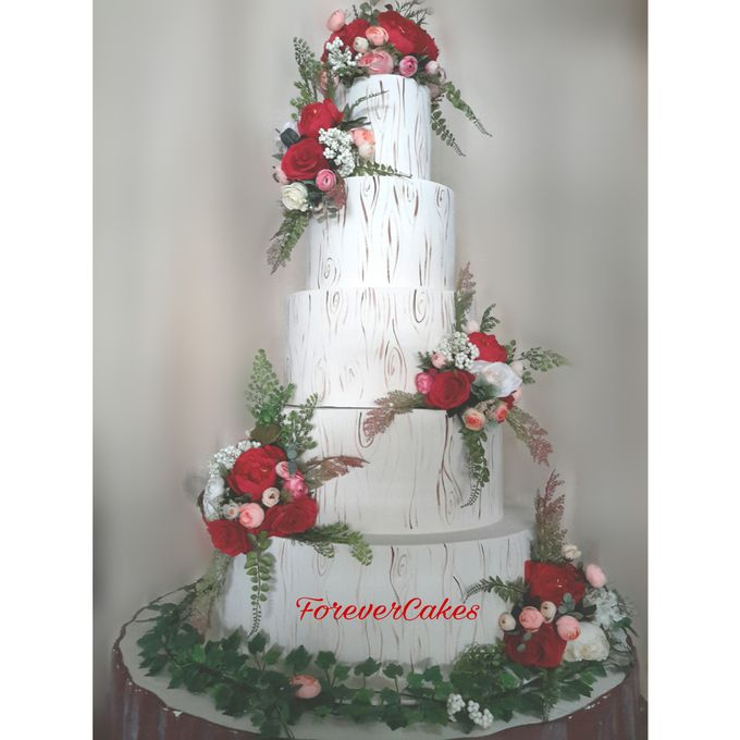 Rustic Wedding Cake by FOREVER CAKE - 001