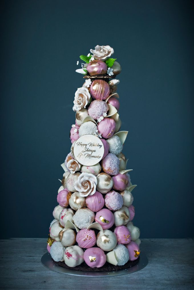 Wedding CROQUEMBOUCHE -Cream Puff Tower by Pulse Patisserie - 022