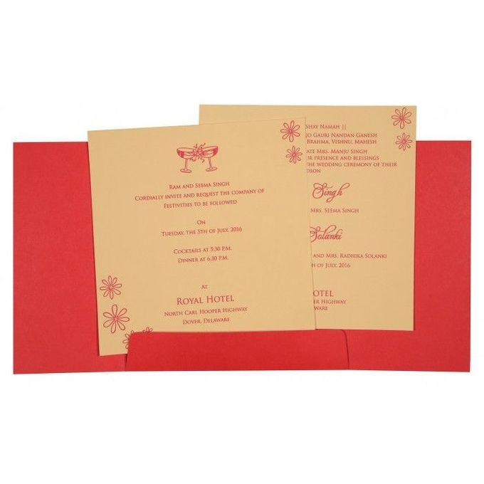 Wedding invitation design for Aryan & Shewta wedding by 123WeddingCards - 006
