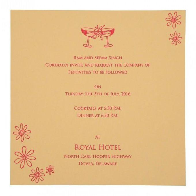 Wedding invitation design for Aryan & Shewta wedding by 123WeddingCards - 007