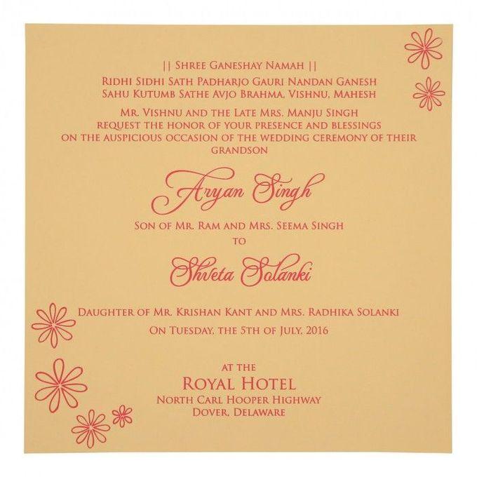 Wedding invitation design for Aryan & Shewta wedding by 123WeddingCards - 008