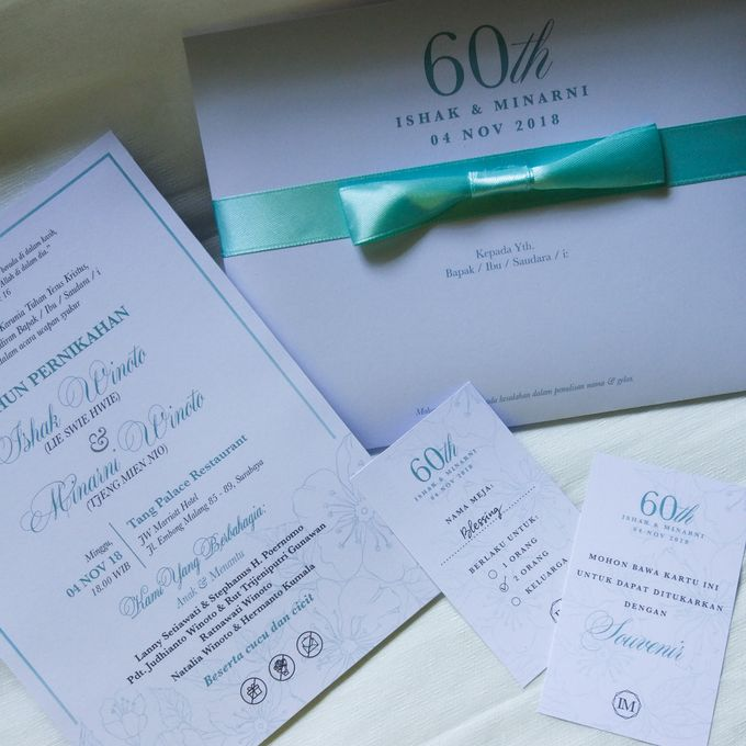Ishak & Minarni 60th Wedding Anniversary Invitation by Sweet Memoire - 001