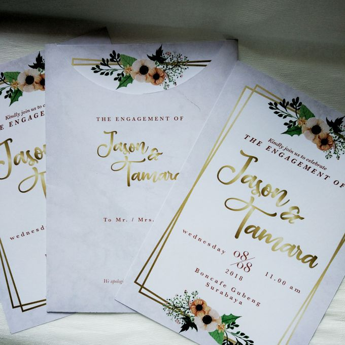Jasen & Lina Engagement Invitation by Sweet Memoire - 001