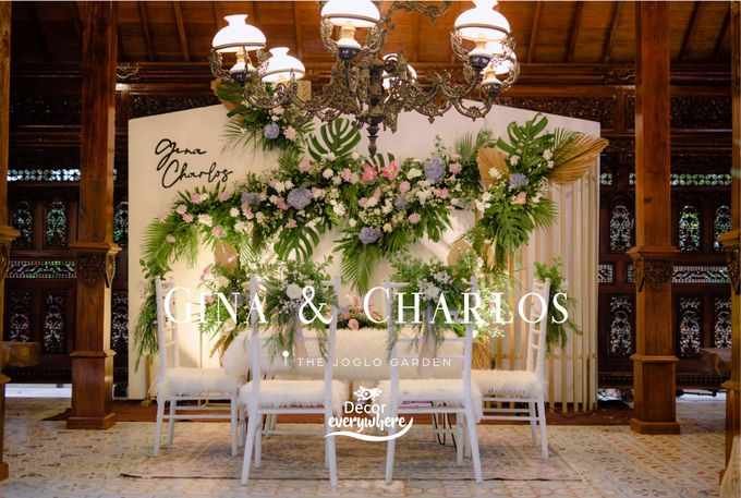 The Wedding of Gina & Charlos di The Joglo Garden by Decor Everywhere - 001