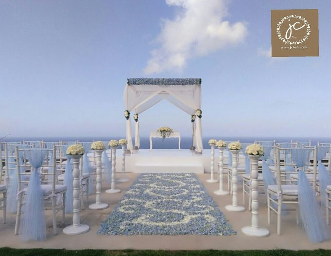 our chapel and water wedding decor by Jc Florist Bali - 022