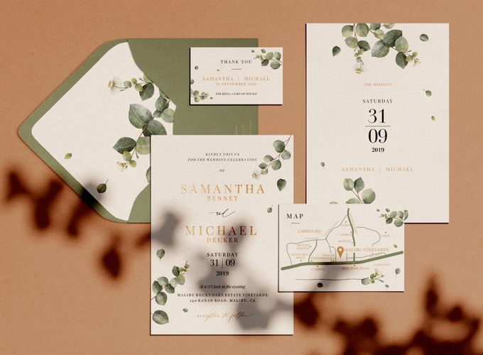 Eucalyptus Greenery by Trouvaille Invitation - 003