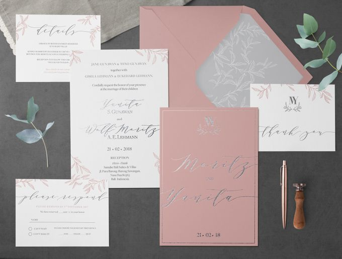 Dusty Pink by Trouvaille Invitation - 003
