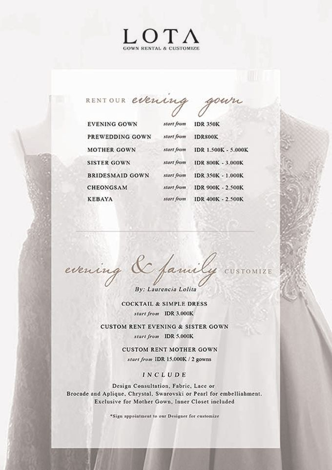 Our Pricelist by LOTA   LAURENT AGUSTINE - 003