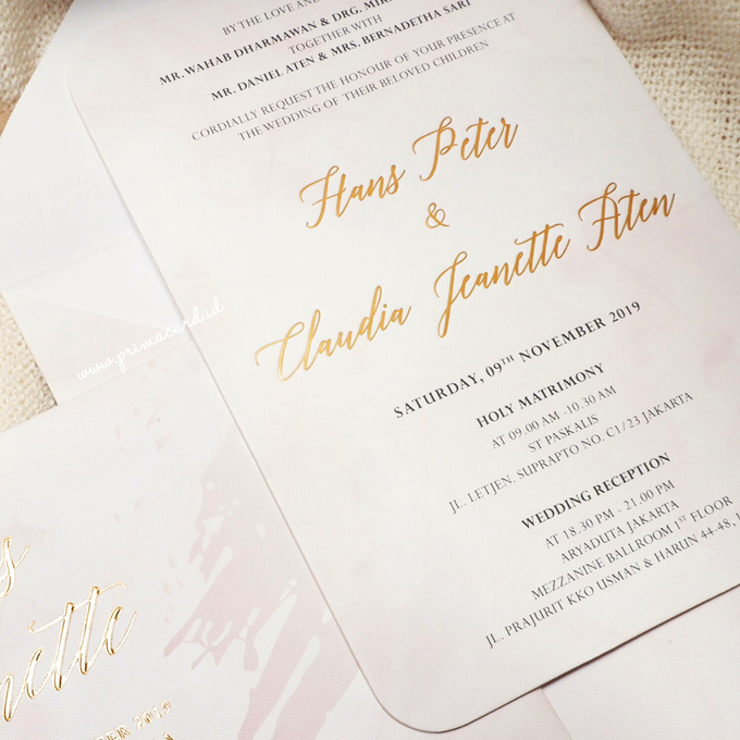 Wedding Invitation of Hans & Jeanette by Prima Card - 002