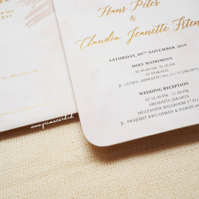 Wedding Invitation of Hans & Jeanette by Prima Card - 003