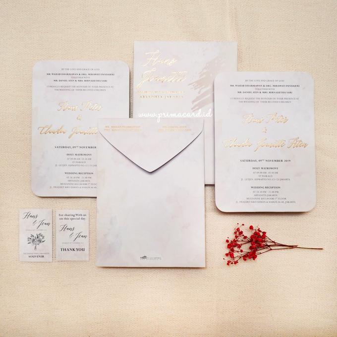 Wedding Invitation of Hans & Jeanette by Prima Card - 006