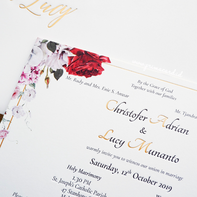 Wedding Invitation of Christofer & Lucy by Prima Card - 001
