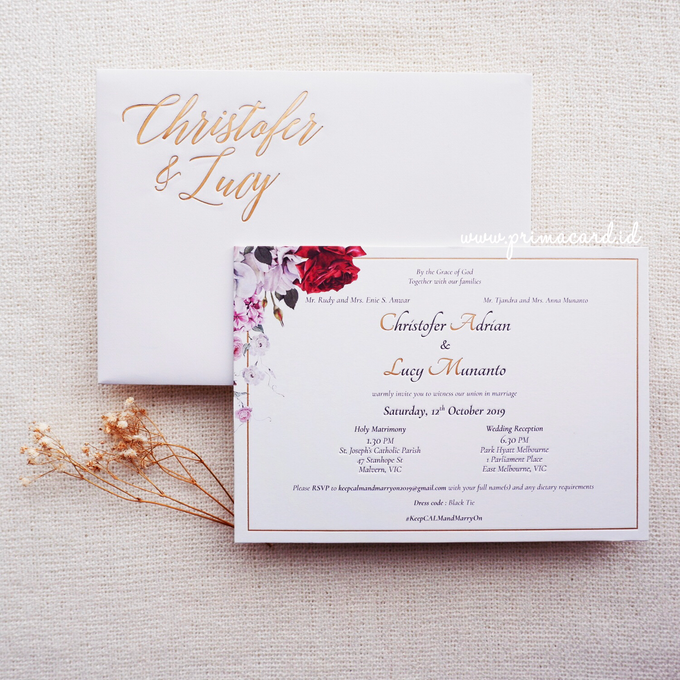 Wedding Invitation of Christofer & Lucy by Prima Card - 005