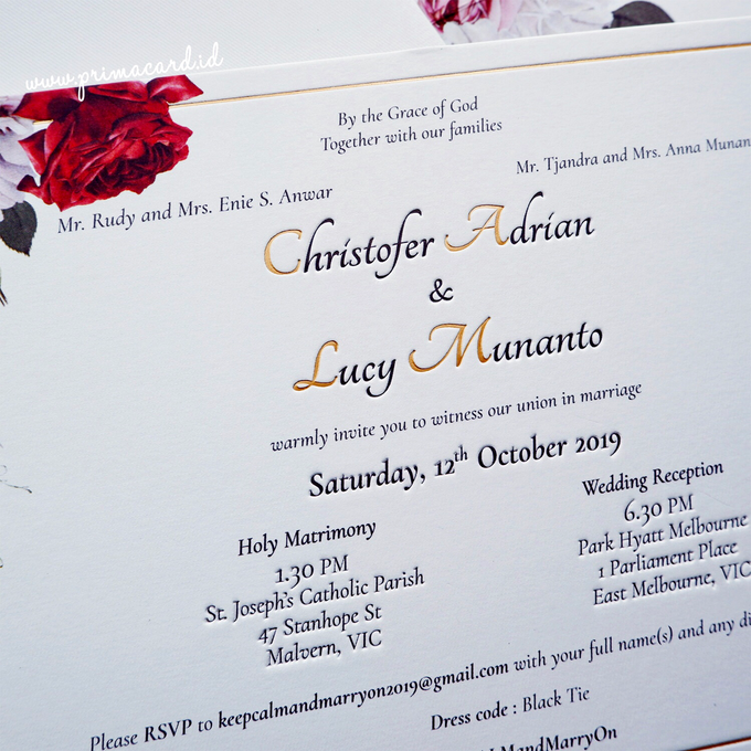 Wedding Invitation of Christofer & Lucy by Prima Card - 006