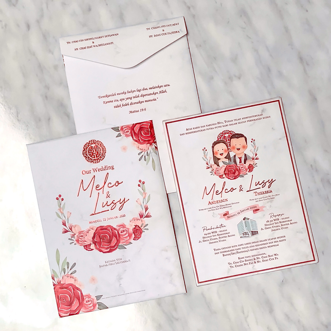 Wedding Invitation of Melco & Lusy by Prima Card - 001