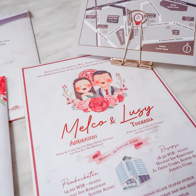 Wedding Invitation of Melco & Lusy by Prima Card - 002