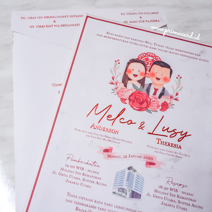 Wedding Invitation of Melco & Lusy by Prima Card - 004