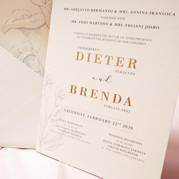 Wedding Invitation of Dieter & Brenda by Prima Card - 001