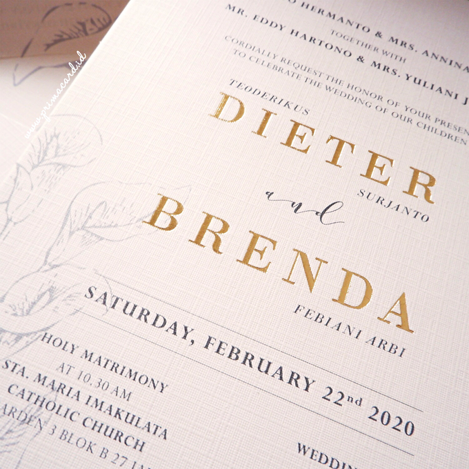 Wedding Invitation of Dieter & Brenda by Prima Card - 002