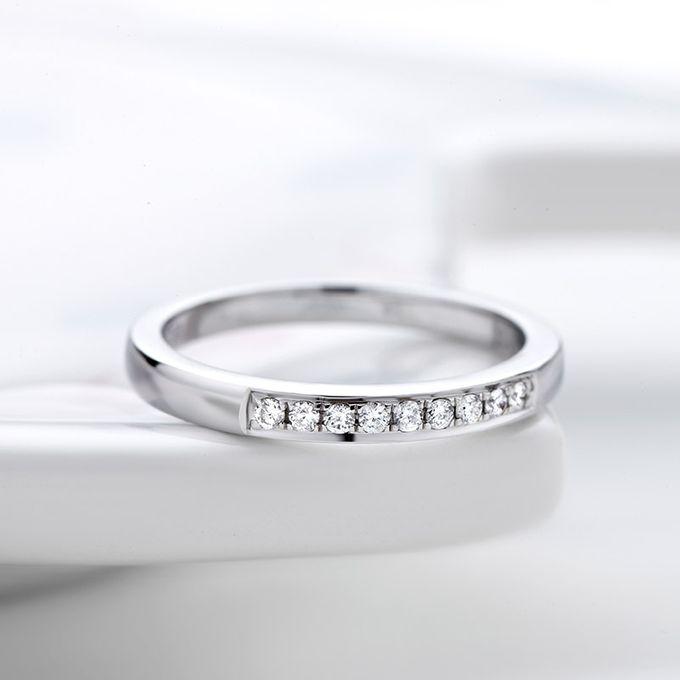 TIARIA Princess Nine Diamond Engagement Ring Cincin Tunangan Berlian by TIARIA - 004