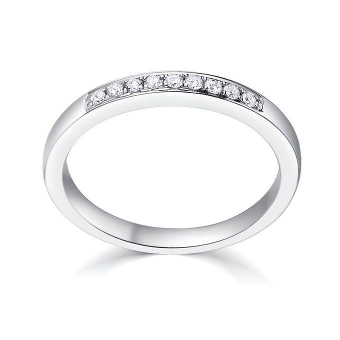 TIARIA Princess Nine Diamond Engagement Ring Cincin Tunangan Berlian by TIARIA - 003