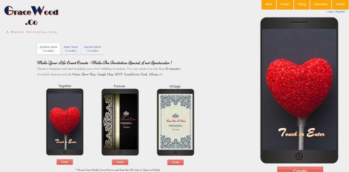 A Mobile Wedding Invitation Webiste by GraceWood.co - 001