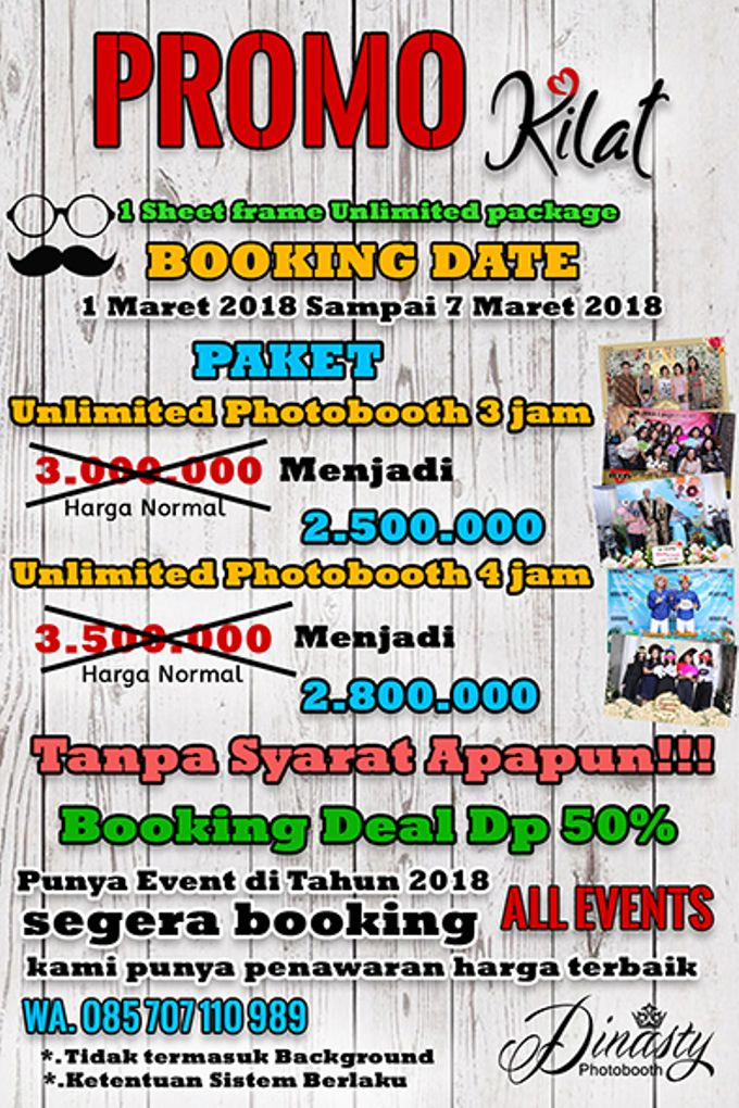 Promo 2018 economic unlimited package by Dinasty Photobooth - 001