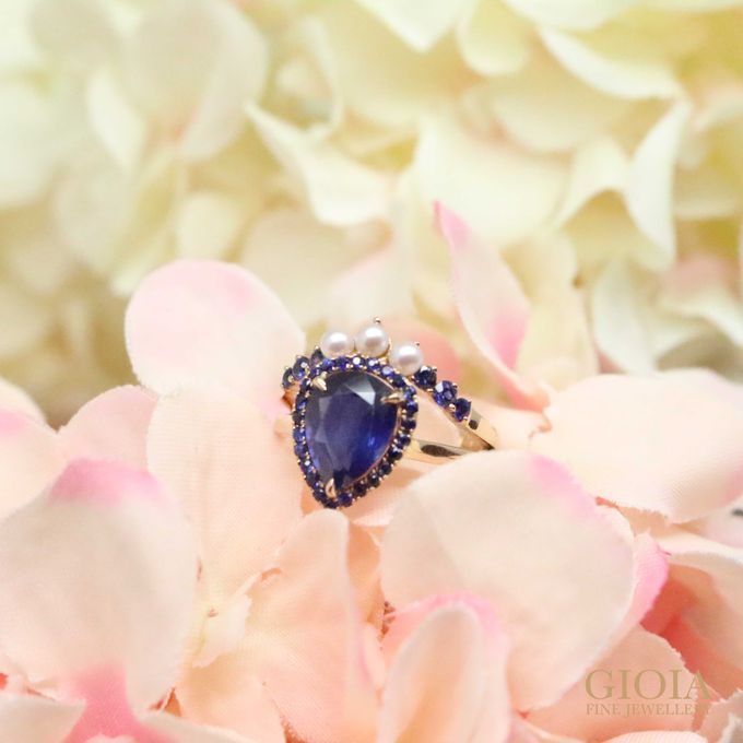 Sapphire Pearl Ring by GIOIA FINE JEWELLERY - 001