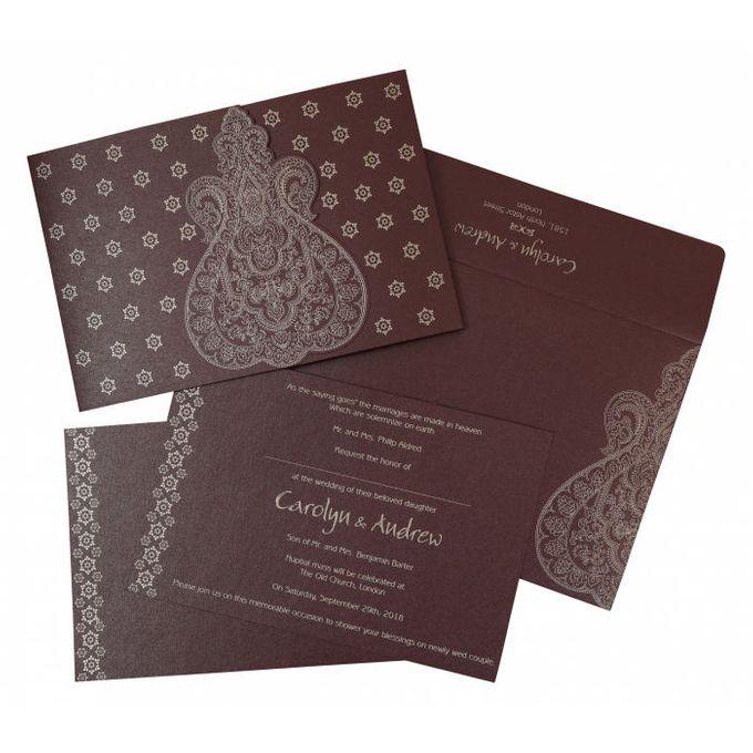 Wedding invitation design for Carolyn & Andrew wedding by 123WeddingCards - 002