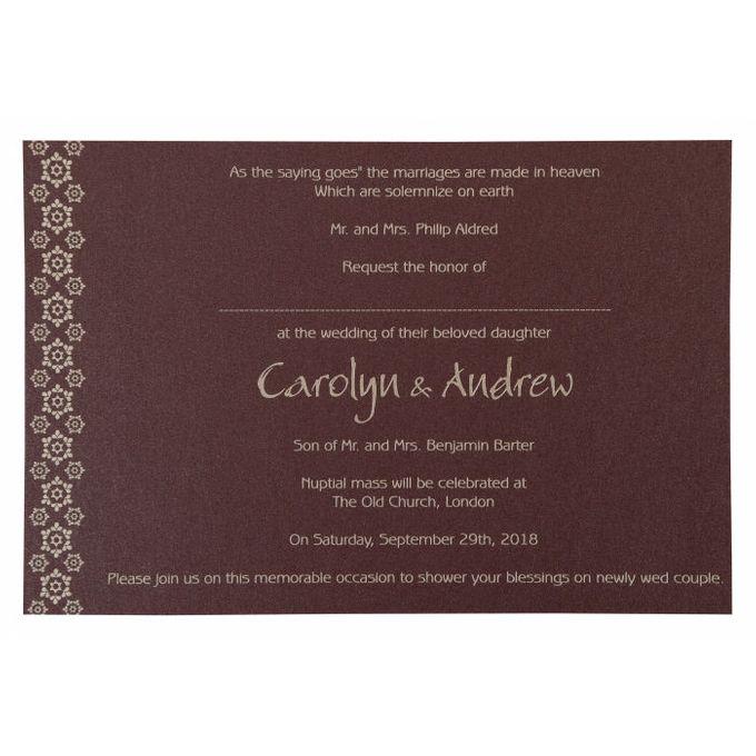 Wedding invitation design for Carolyn & Andrew wedding by 123WeddingCards - 006