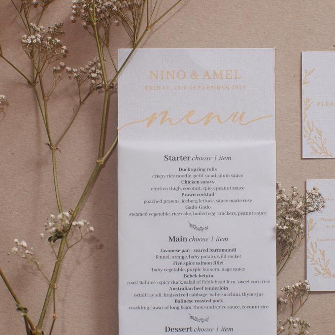Intimate Wedding of Nino & Amel, feel so gorgeous with acrylic invitation by Putrajaya Invitation - 004