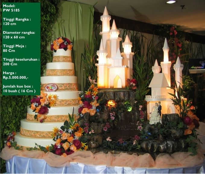 wedding cake 7 tiers by Pelangi Cake - 008