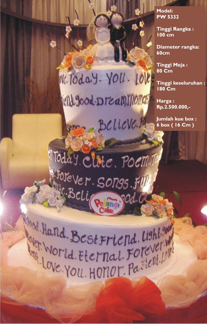 Wedding Cake 3 Tiers by Pelangi Cake - 016