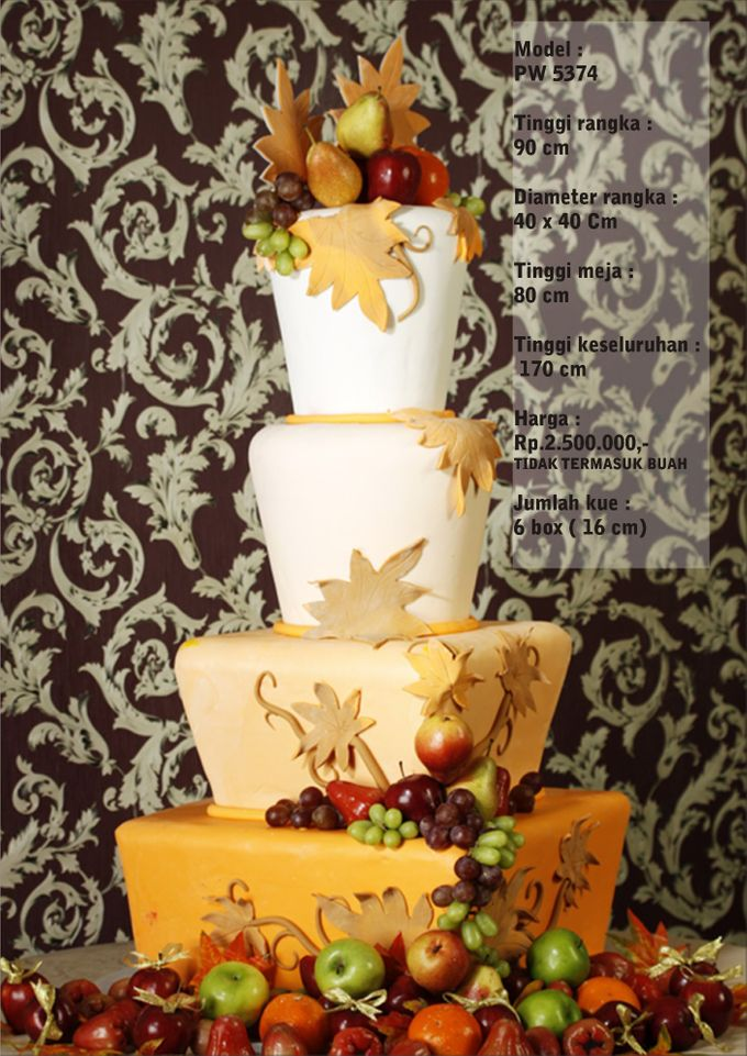 Wedding Cake 3 Tiers by Pelangi Cake - 019