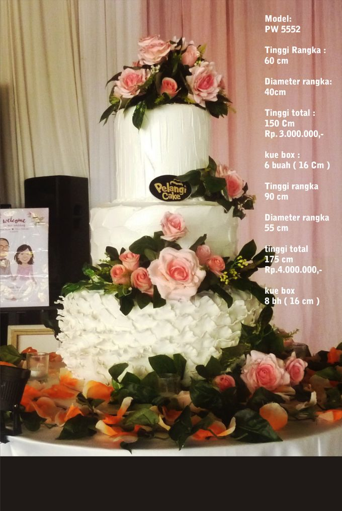 Wedding Cake 3 Tiers by Pelangi Cake - 023