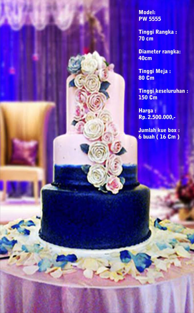 Wedding Cake 3 Tiers by Pelangi Cake - 017
