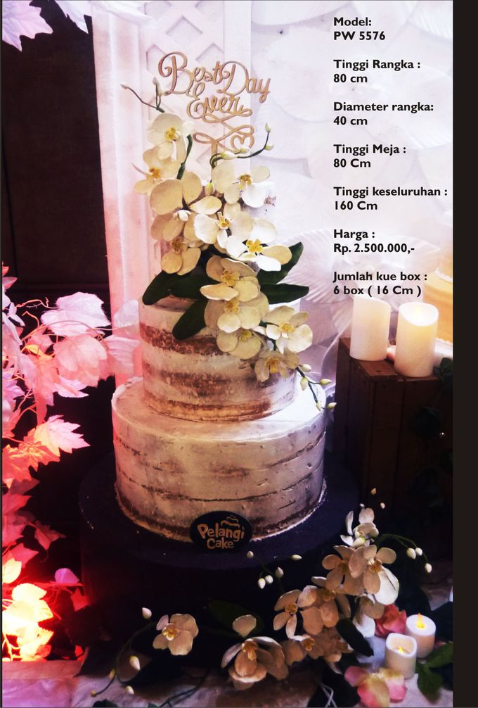 Wedding Cake 3 Tiers by Pelangi Cake - 025