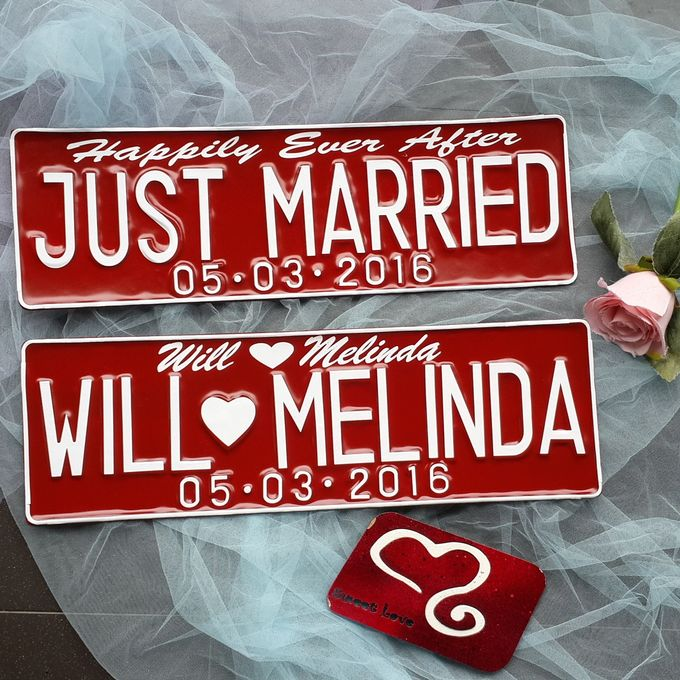 Wedding Car Plate by Sweetlovecollection - 009